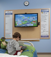 A child using the GetWellNetwork