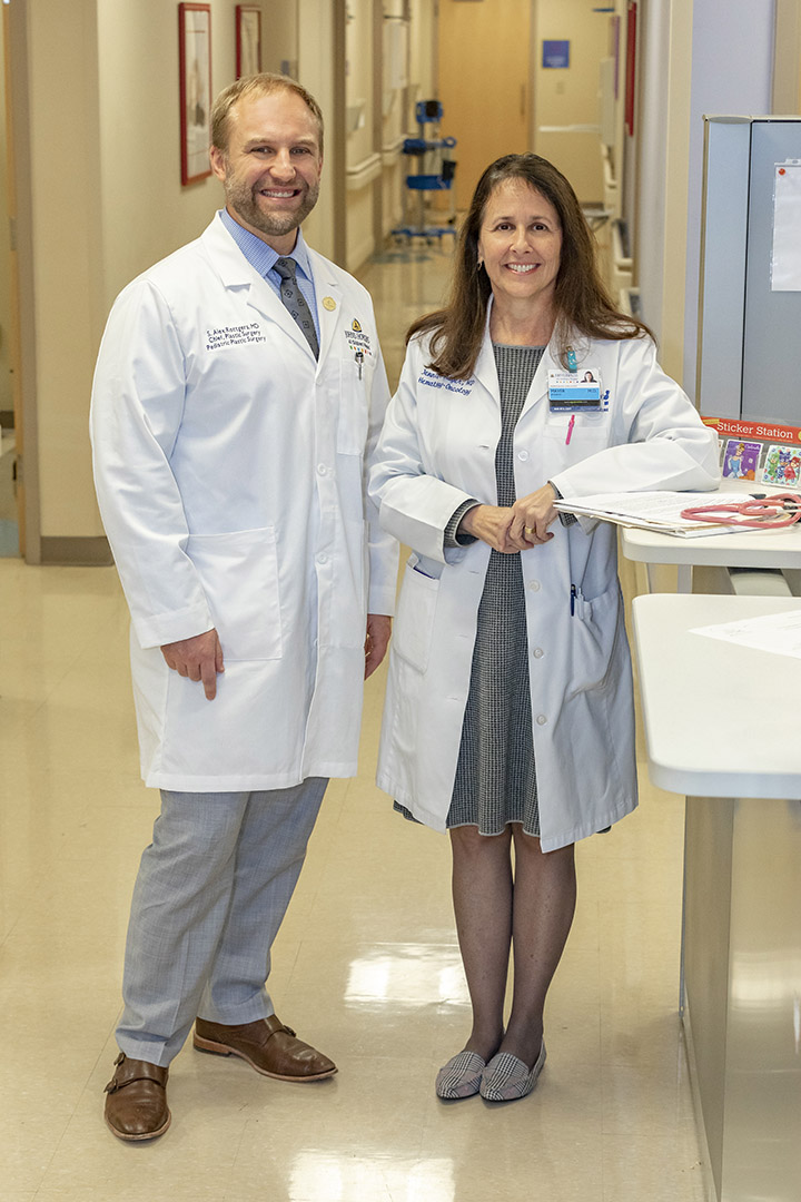 Jennifer Mayer, M.D. with Alex Rottgers, M.D.