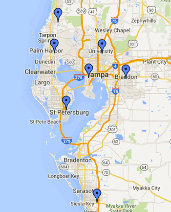 AllSports Medicine locations on Google Maps