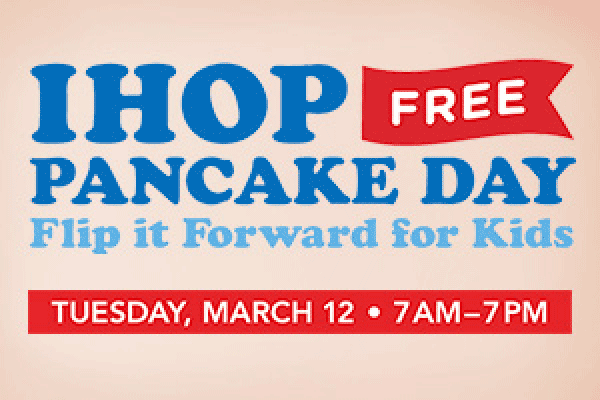 Free Pancake Day at IHOP