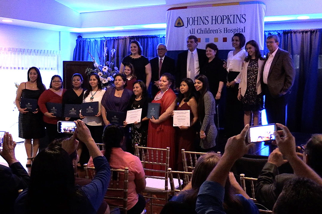 Nurses from three hospitals in Guatemala graduate from a pilot neonatal care program created by The Nightwatch Foundation and Johns Hopkins All Children's Hospital