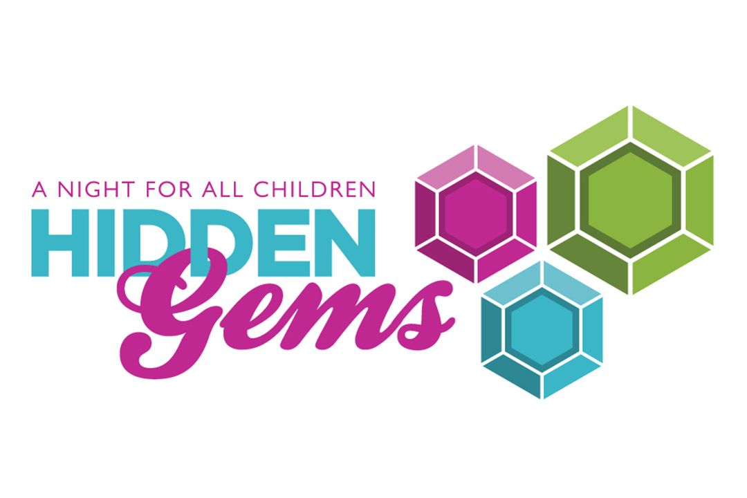 The logo for Hidden Gems, A Night for All Children, to support patients and families at Johns Hopkins All Children's
