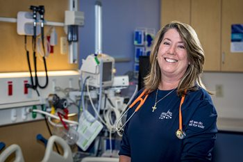Candace Motta, R.N., is a clinical nurse in the Surgical Neurosciences Unit at Johns Hopkins All Children's.