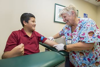 Hunter at the Vascular Anomalies Clinic