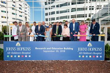 Ribbon cutting for the Research and Education building