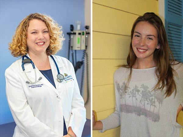 Deanna Green, M.D., left and Lynsey, right