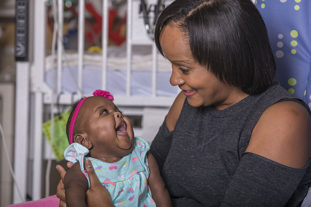 Bella and her mother Wanda in the Johns Hopkins All Children's Hospital neonatal intensive care unit